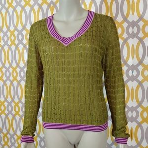 Missoni for Target Sweaters - MISSONI Target V Neck Sweater Olive Green XL
